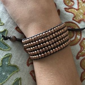 Copper colored beaded bracelet